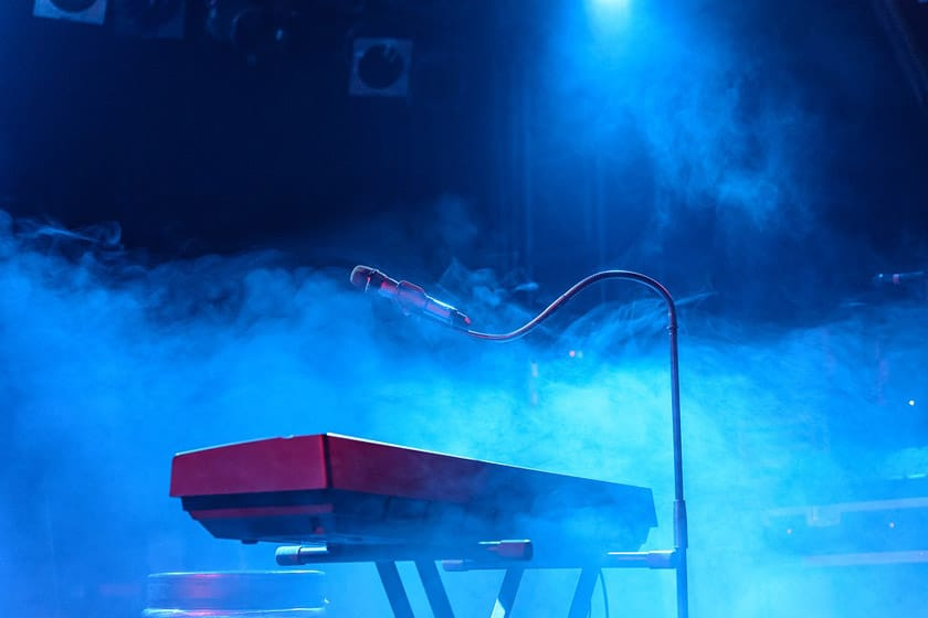 Live Music Keyboard Microphone Stage