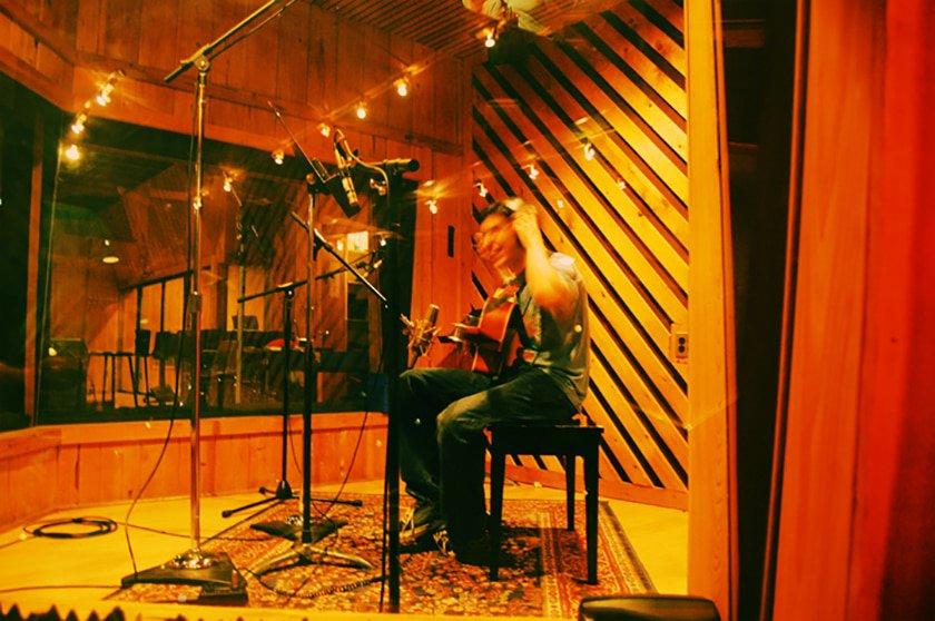 preparing for recording studio session