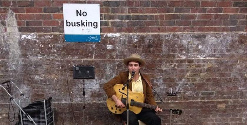 No busking areas in the uk