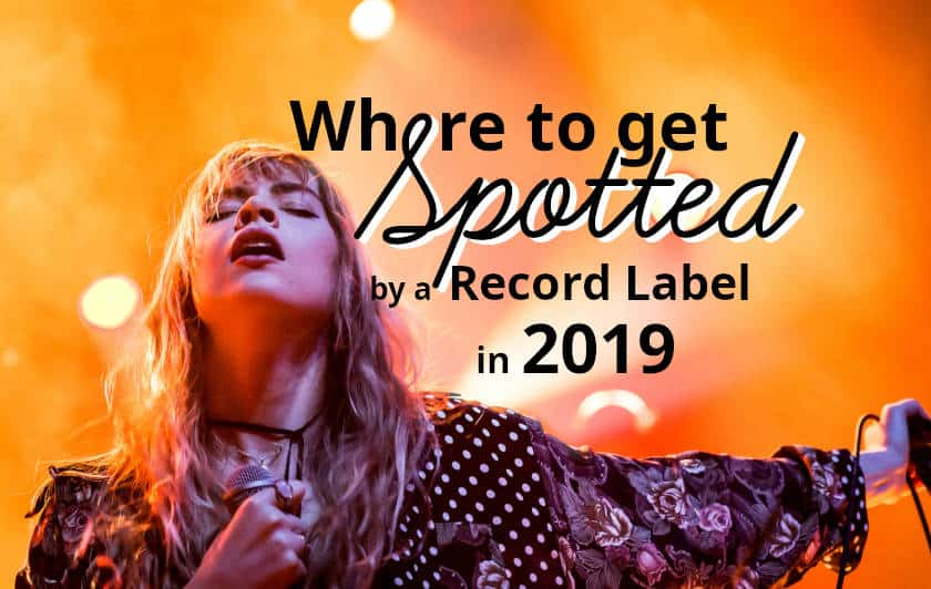 Spotted by record label talent scouts