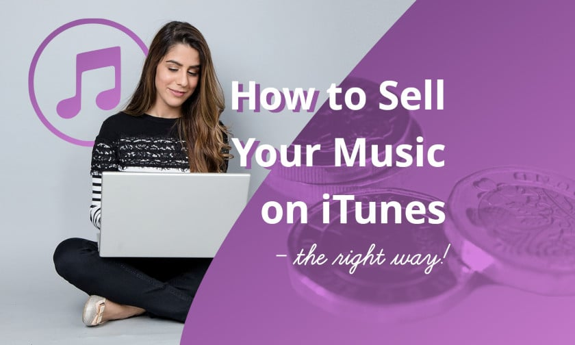 Woman selling music on iTunes