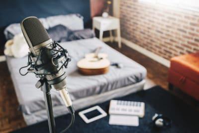 Bedroom recording studio
