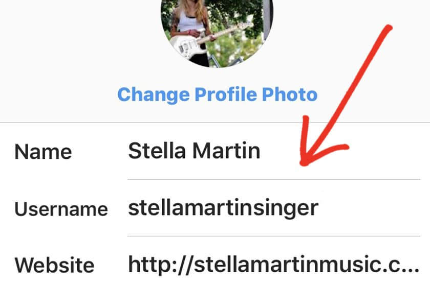 Change your Instagram Username