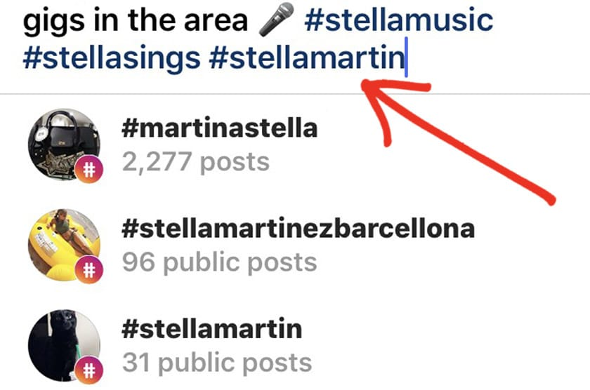 Change your Instagram Hashtags