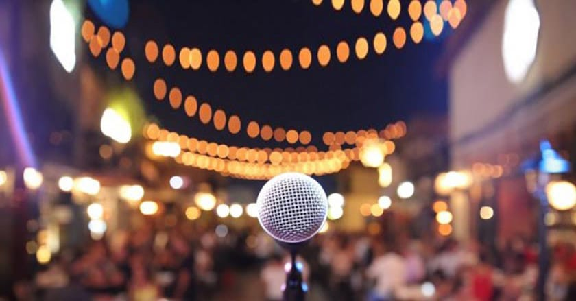 how to connect with your audience musician on stage