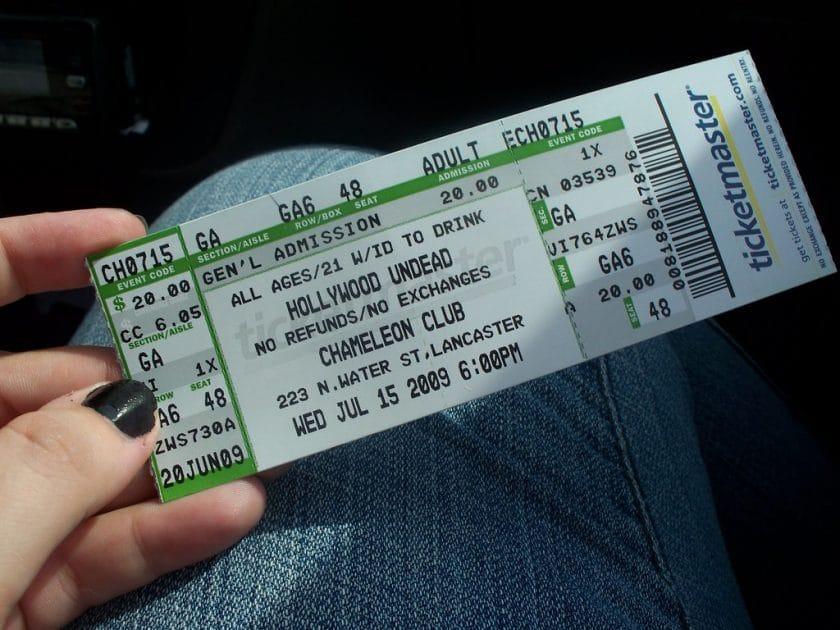 Concert ticket sales