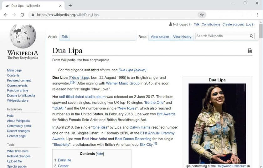 How to create a Wikipedia page for an artist