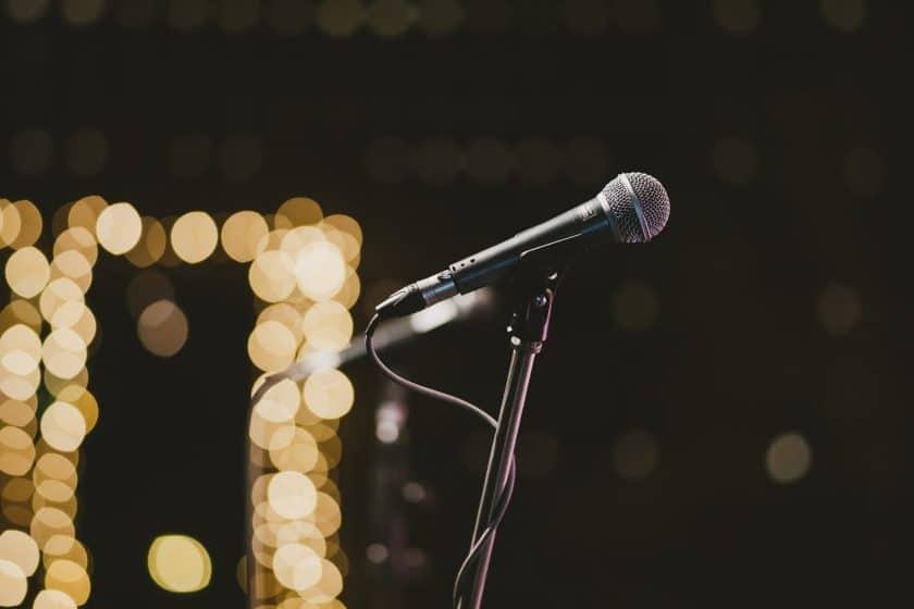 open mic performance