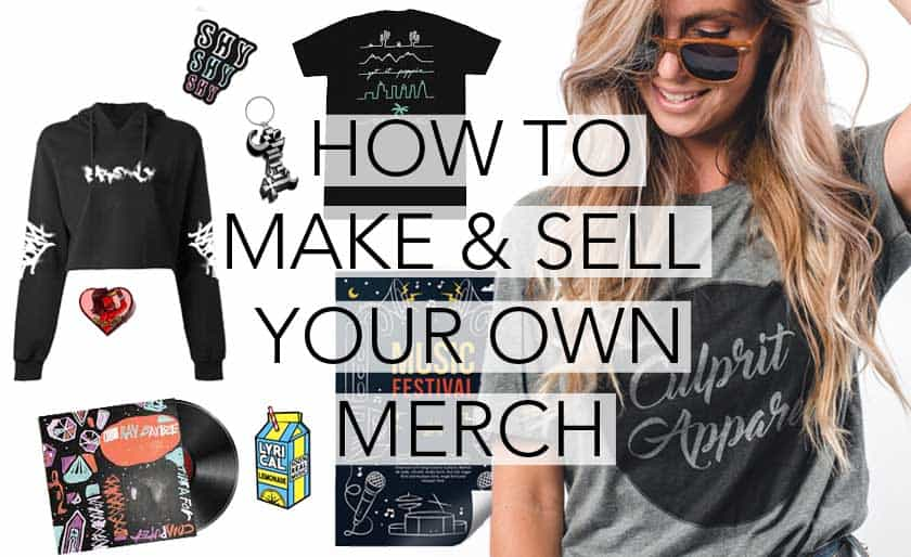 Making Merchandise as a singer