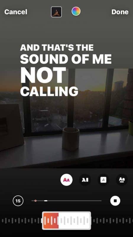 How to put music lyrics on Instagram Story